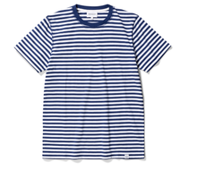 Load image into Gallery viewer, Norse Projects - Niels Classic Stripe SS - Blue Stripe