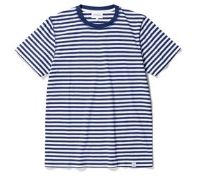 Norse Projects - Niels Classic Stripe SS - Blue Stripe