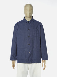 Universal Works - Bakers Overshirt - Brushed Cotton Blue