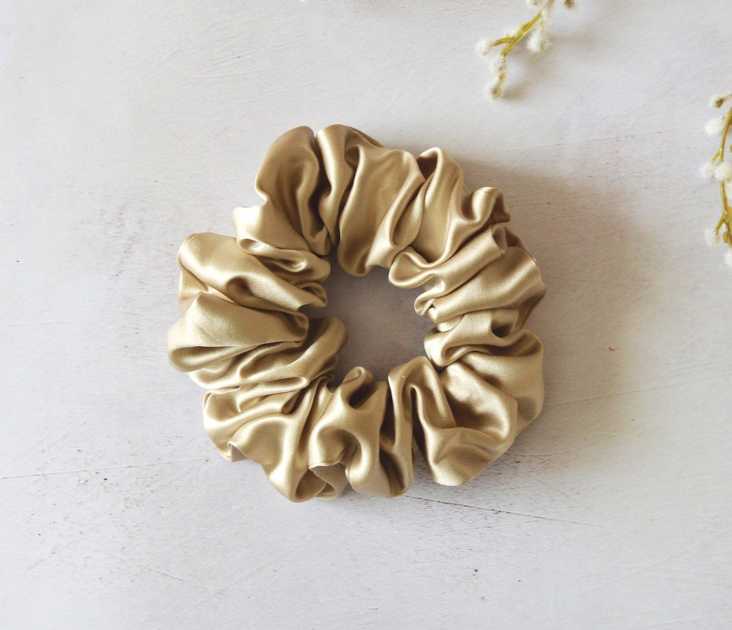Silk Scrunchie -Birch