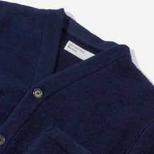 Load image into Gallery viewer, Universal Works - Wool Fleece Cardigan - Navy