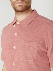 Oliver Spencer - Hawaiian Jersey Shirt - Yale Red