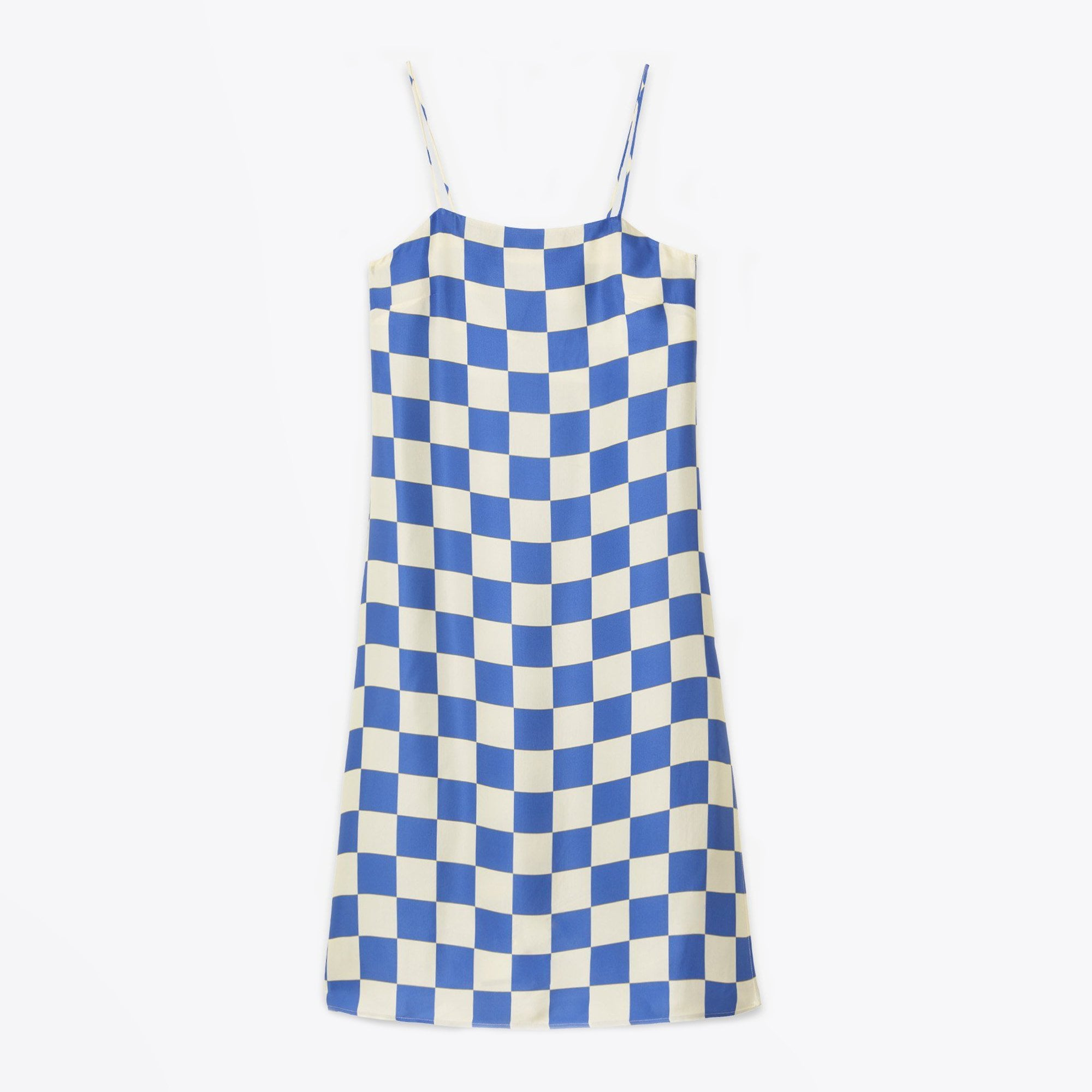Ottodame - Printed Viscose Midi Dress - Blue Check 09
