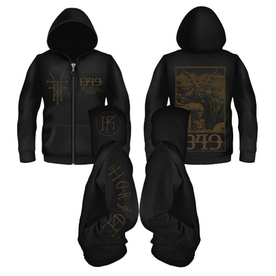 1349 - CAVERNS ZIPPER HOODIE - Nordic Music Merch
