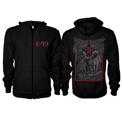 1349 - Witches Zipper Hoodie - Nordic Music Merch