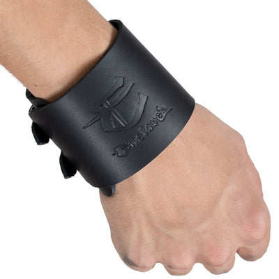 "Enslaved - ""E""- Leather Wristband - Nordic Music Merch"