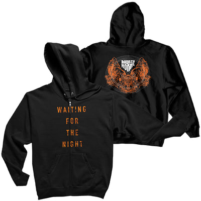 "Audrey Horne ""Waiting For The Night"" Mens Zip Hoodie - Nordic Music Merch"