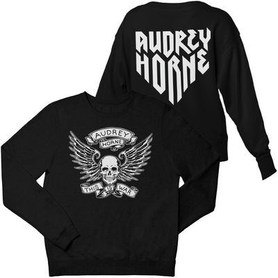"Audrey Horne ""Skull & Wings"" Mens Sweater - Nordic Music Merch"