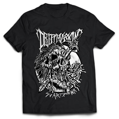 Drittmaskin - Beheaded Metalhead Black & White Shirt - Nordic Music Merch