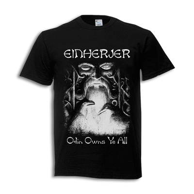 "Einherjer - ""Odin Owns Ye All"" Black T-Shirt - Nordic Music Merch"