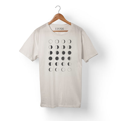 Eivør - Moon Phase T-Shirt (White, Unisex) - Nordic Music Merch