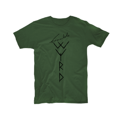 Gaahl's Wyrd Logo Green T-Shirt - Nordic Music Merch