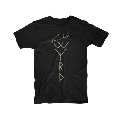 Gaahl's Wyrd Logo Black T-Shirt - Nordic Music Merch