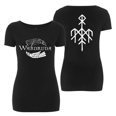 Wardruna - Kvitravn Horizontal Women's T-Shirt - Nordic Music Merch
