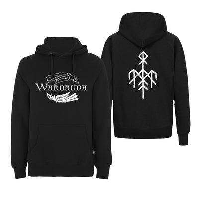 Wardruna - Kvitravn Horizontal Hoodie - Nordic Music Merch