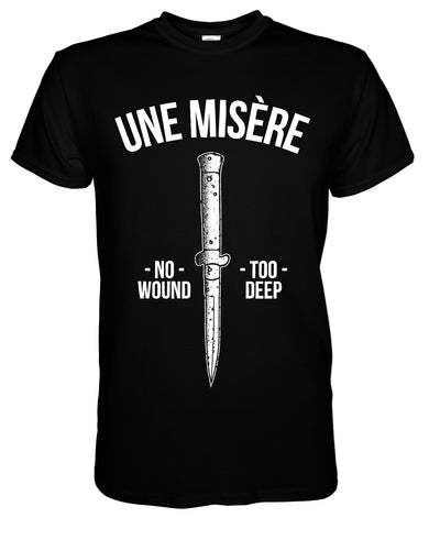 Une Misère - Knife T-Shirt - Nordic Music Merch
