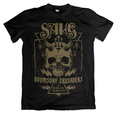 Sahg - Brown Doomsday Crusaders T-Shirt - Nordic Music Merch