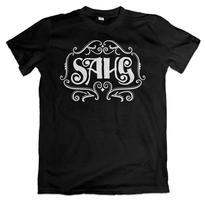 Sahg - White Logo T-Shirt - Nordic Music Merch