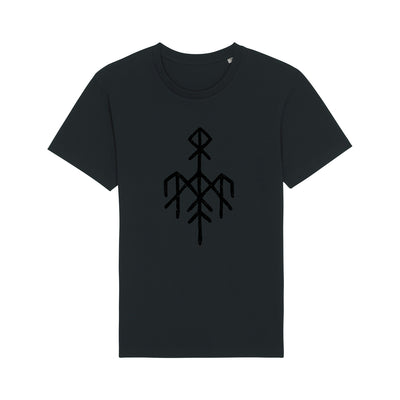 Wardruna - Black Rune on Black T-Shirt - Nordic Music Merch