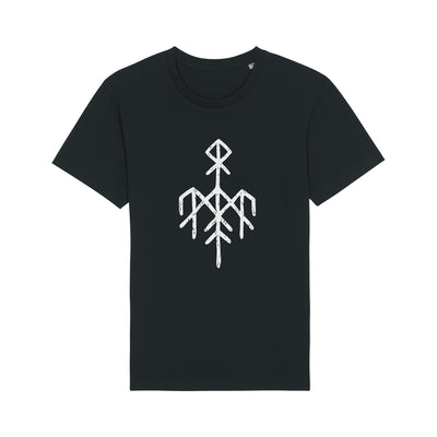 Wardruna - White Rune Logo on Black T-Shirt - Nordic Music Merch