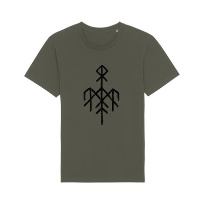 Wardruna - Black Rune Logo on Khaki T-Shirt - Nordic Music Merch