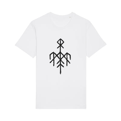 Wardruna - Black Rune Logo on White T-Shirt - Nordic Music Merch