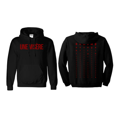 Une Misère - Red Tears Hoodie - Nordic Music Merch