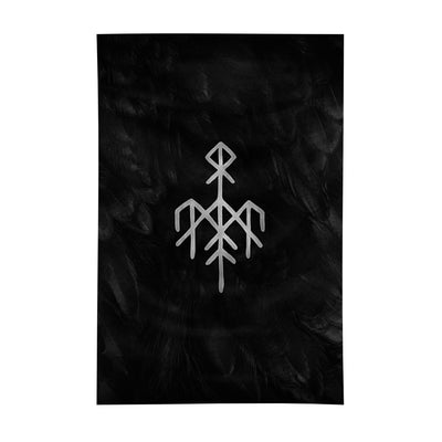 Wardruna - Kvitravn Flag - Nordic Music Merch