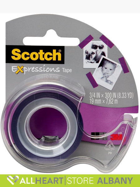 Tape - Scotch Expressions Tape - 19mm X 7.62m - Purple - Stationery