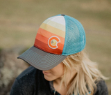 Sunset Fader Trucker