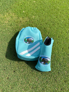 CBGC x AM&E Blade Putter Headcover and Drawstring Valuables Pouch Combo