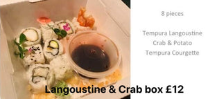 Langoustine and crab box £12