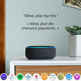 Echo Dot (3rd gen) - Smart speaker with Alexa - Charcoal