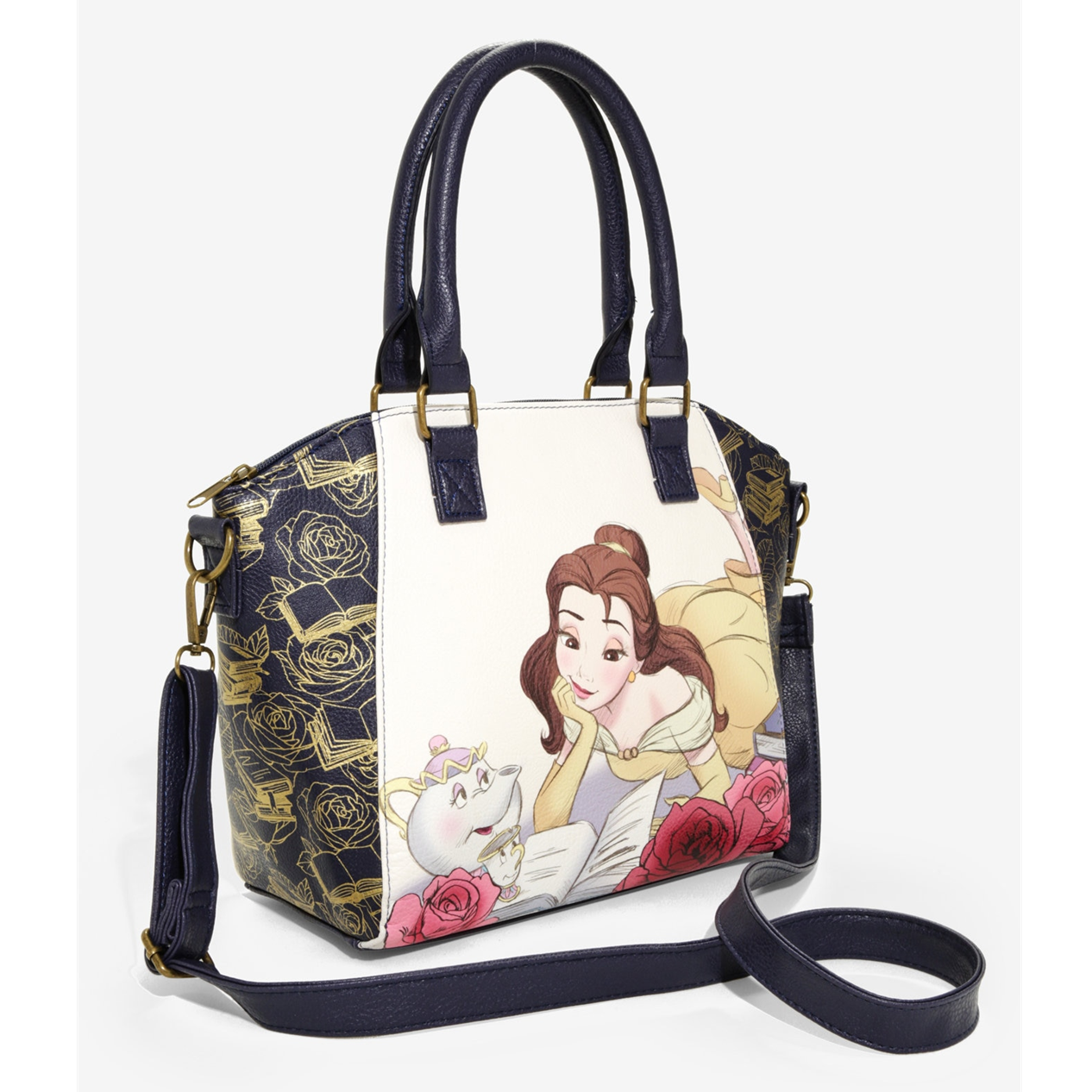 Beauty and the Beast Reading Large Satchel - Loungefly