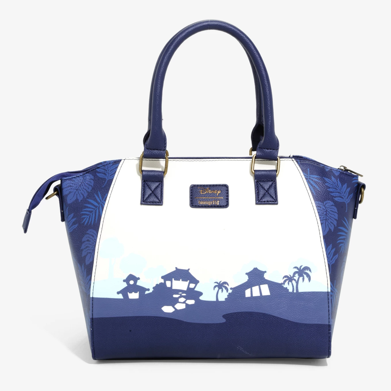 LOUNGEFLY DISNEY LILO & STITCH DARK BLUE SATCHEL BAG