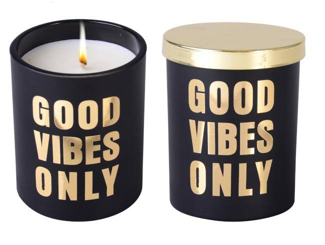 Less Chat Good Vibes Soy Candle