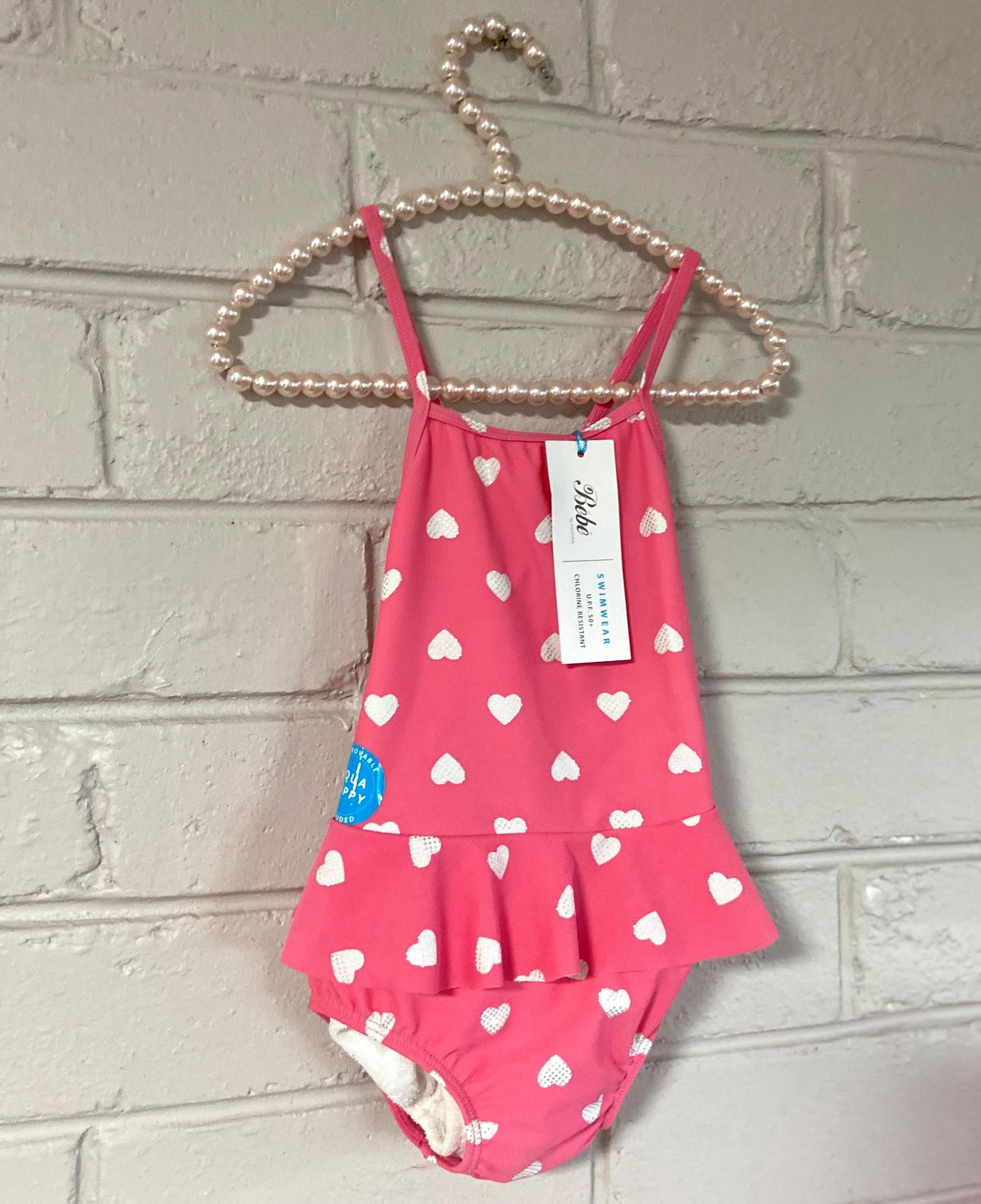 Pink with Hearts Swimwear by Bebe