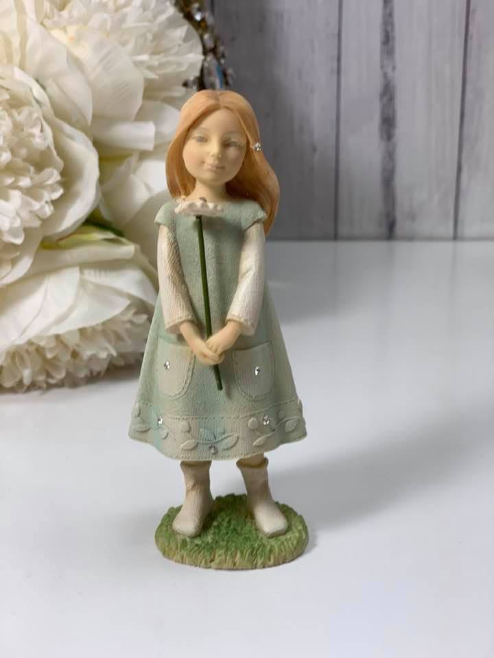 Girl with Flower Foundation Figurine