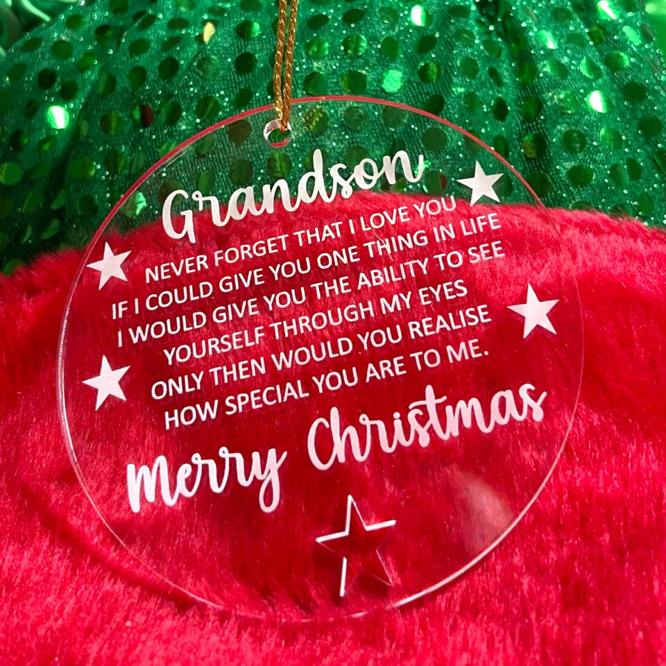Grandson Decoration with Christmas Card