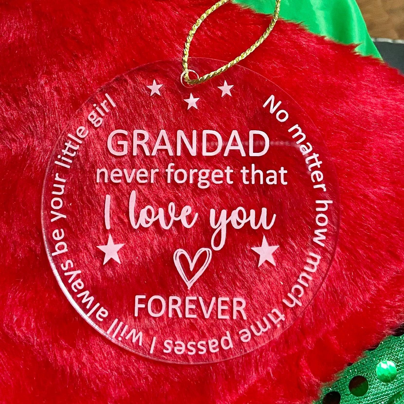 Grandad Decoration with Christmas Card