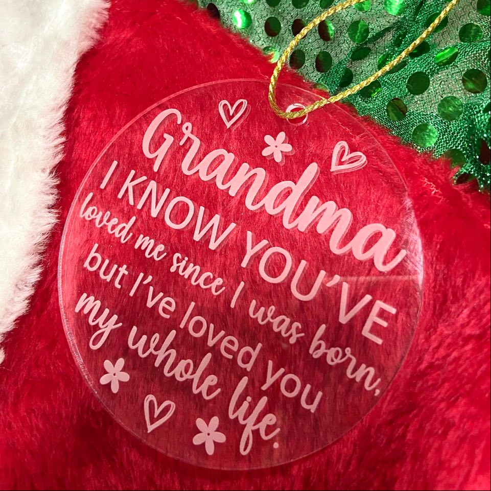 Grandma Decoration with Christmas Card