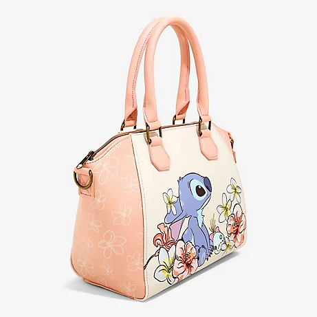 LOUNGEFLY DISNEY LILO & STITCH FLOWERS SATCHEL BAG