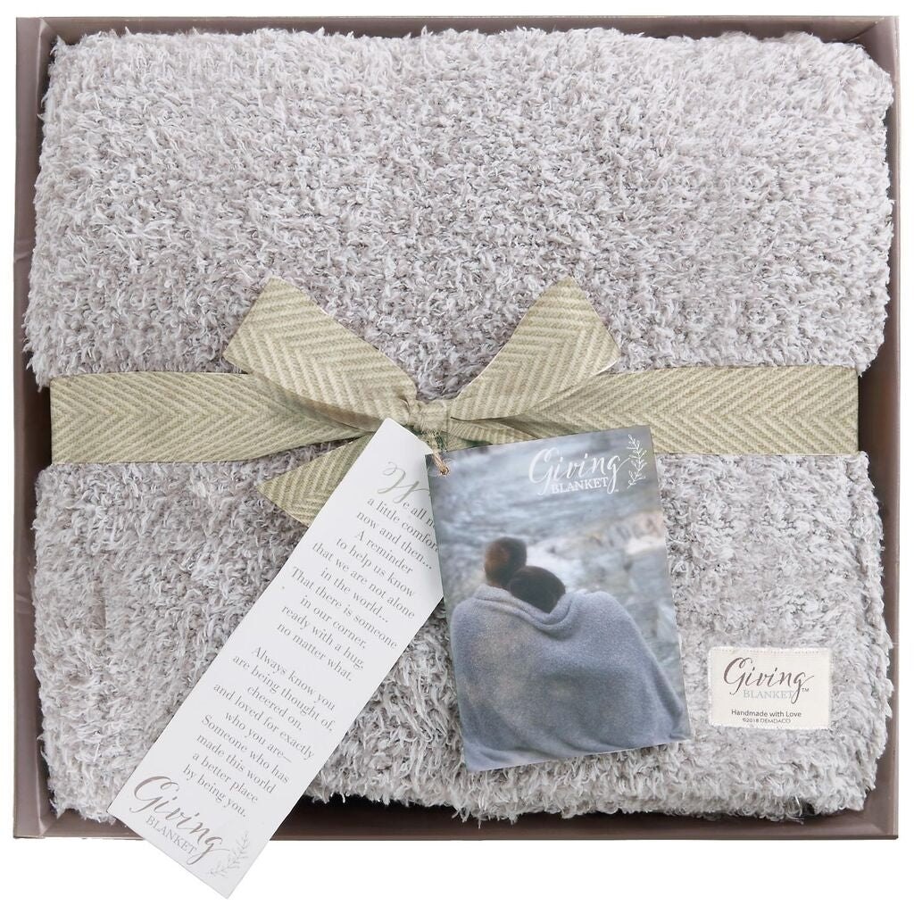 DEMDACO Giving Blanket - Taupe