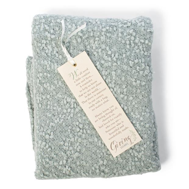 DEMDACO Giving Shawl - Sage with Bookmark Gift Boxed