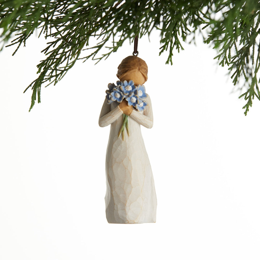 Forget-me-not - Hanging Willow Tree Figurine
