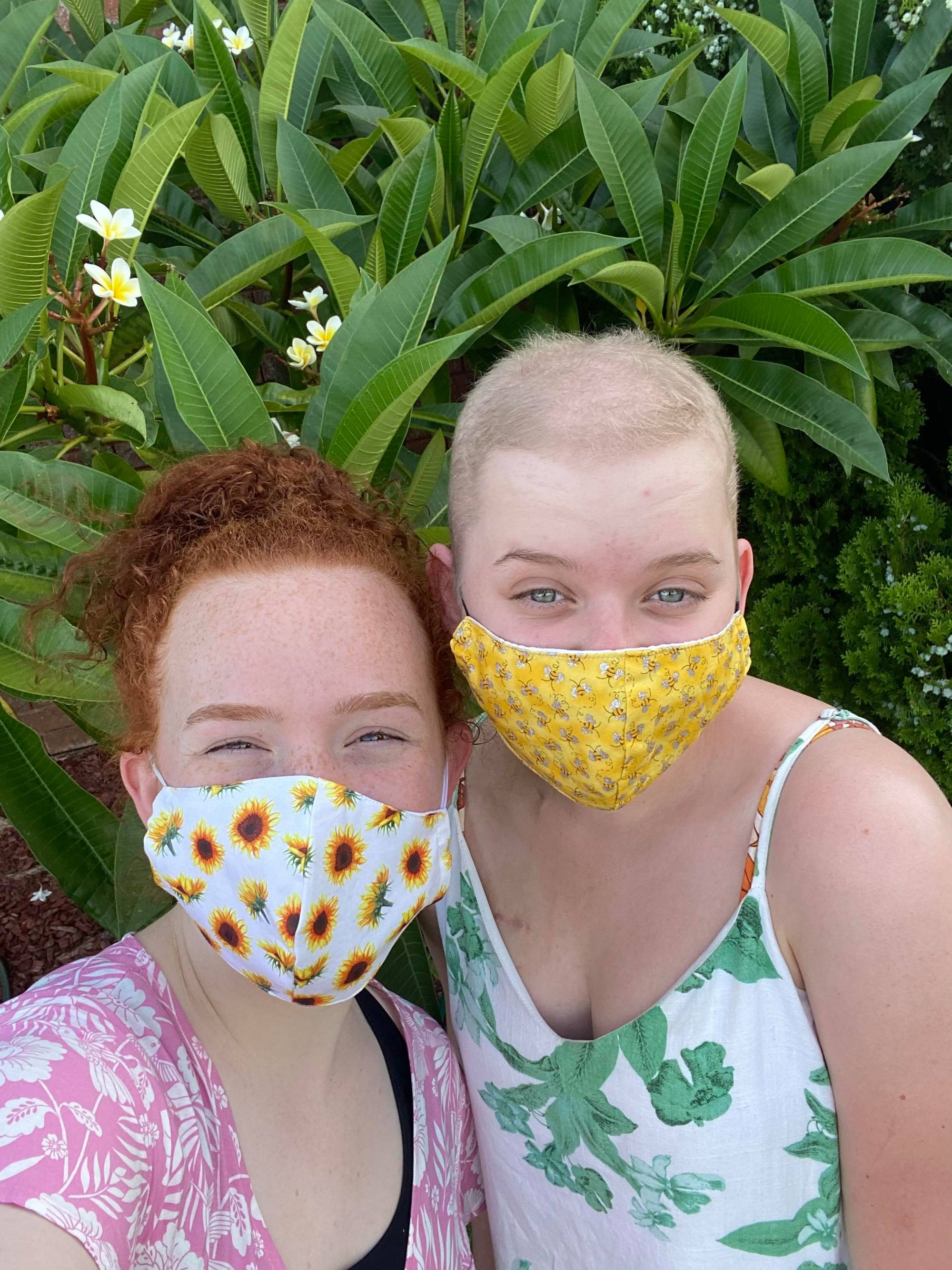Bees and Flowers Face Mask