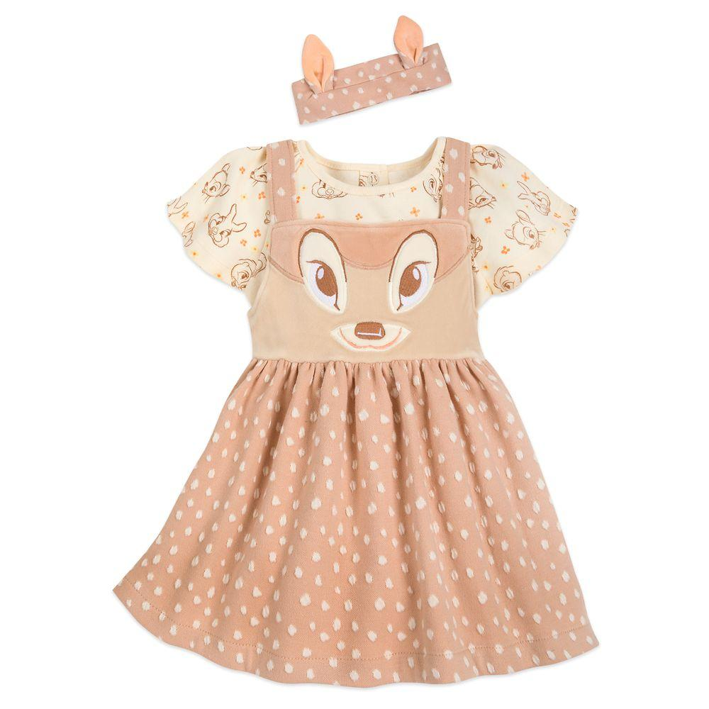 Bambi Jumper Dress and Bodysuit Set for Baby