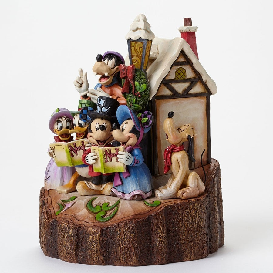 Caroling Mickey and Friends Carved By Heart - Jim Shore Disney Traditions Figurine