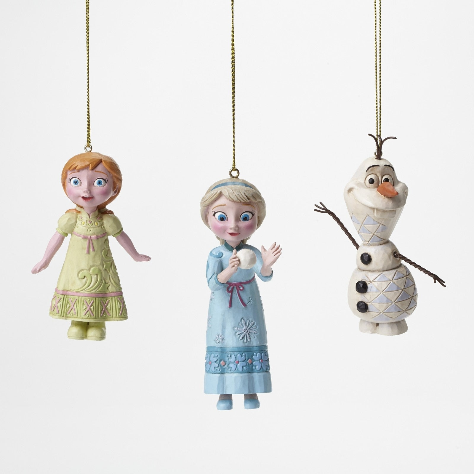 Jim Shore Disney Tradition Frozen Hanging Ornament set of 3