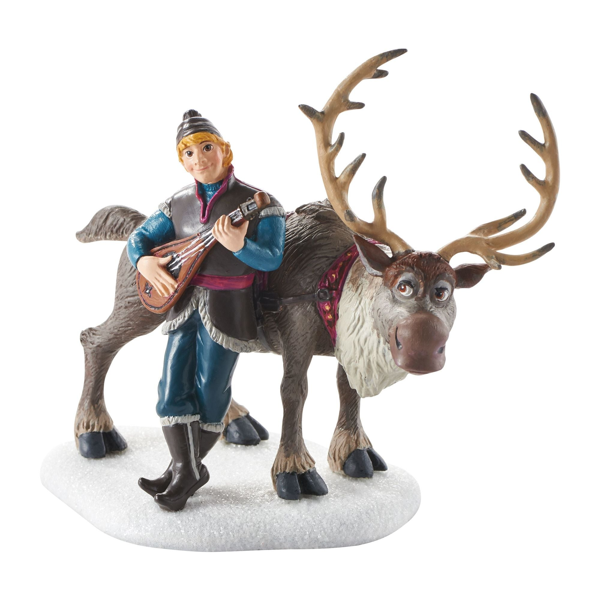 Disney Frozen Village Kristoff Serenading Sven Accessory Figurine